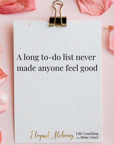 A long list never made anyone feel good